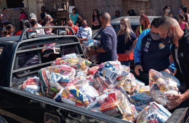 Alem-Brasil Lebensmittelspenden Corona 2021